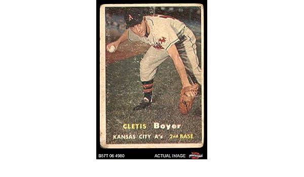 Verzamelkaarten: sport 1957 Topps #121 Cletis Boyer Kansas City Athletics Clete RC Rookie Baseball Card Verzamelkaarten, ruilkaarten