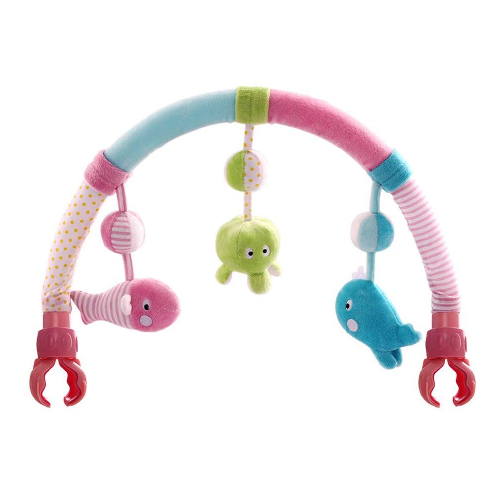 Aszhdfihas Gesangbaby-Spaziergängerbabyaktivitäts-Tierspielzeug Baby Hängende Spielzeuge