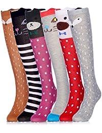 Cartoon Animal Cotton Knee High Socks For Children,6...