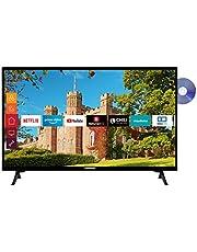 Telefunken XH32J511D 32 inch televisie (Smart TV incl. Prime Video/Netflix/YouTube, HD ready, DVD-speler, Works with Alexa, Triple-Tuner) [Modeljaar 2021]