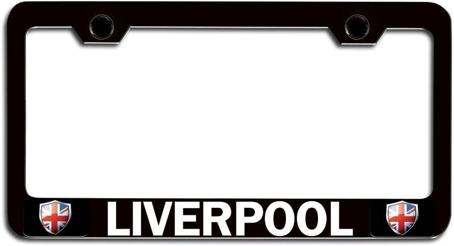 License Tag Holder LIVERPOOL British England Bl Steel License Plate Frame