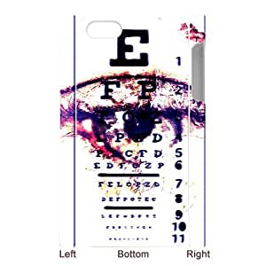 Special Designer White Optometrist Opthamologist Eye Chart iPhone 5 Case, Snap on Protective Eye Chart iPhone 5 Case