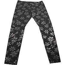June & Daisy Ladies Ponte Ankle Length Leggings, Shimmer Floral