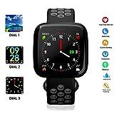 Pulsera Inteligente,WINSUNY Smartwatch Reloj inteligente Deporte Bluetooth Smart Watch Multifuncional Smartband monitor de actividad Rastreador de fitness - Monitor de Ritmo cardiaco,Monitor De Presión Arterial, Contador de calorías, Monitor de oxígeno,Podómetro (contador de pasos) IP67 Impermeable para Hombres, Mujeres