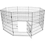ALEKO 30 Inch Dog Playpen Pet Kennel Pen Exercise Cage Fence 8 Panel