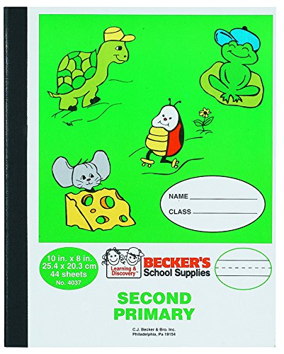 Becker's School Supplies Second Primary Composition Book, Sewn,
