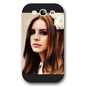 UniqueBox - Customized Personalized Black Frosted Samsung Galaxy S3 Case, American Famous Singer Lana Del Rey Samsung S3 case, Only fit Samsung Galaxy S3