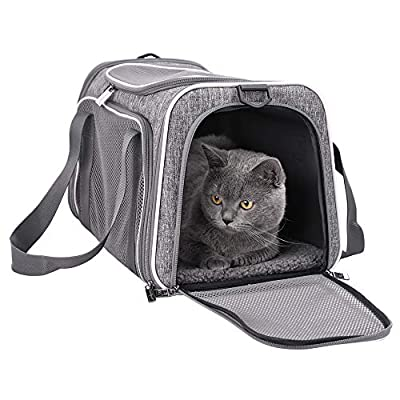 petisfam Top Load Cat Carrier for Medium Cats, Collapsible and Escape Proof by petisfam