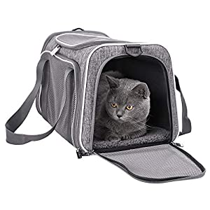 petisfam Top Load Cat Carrier for Medium Cats, Collapsible and Escape Proof 13