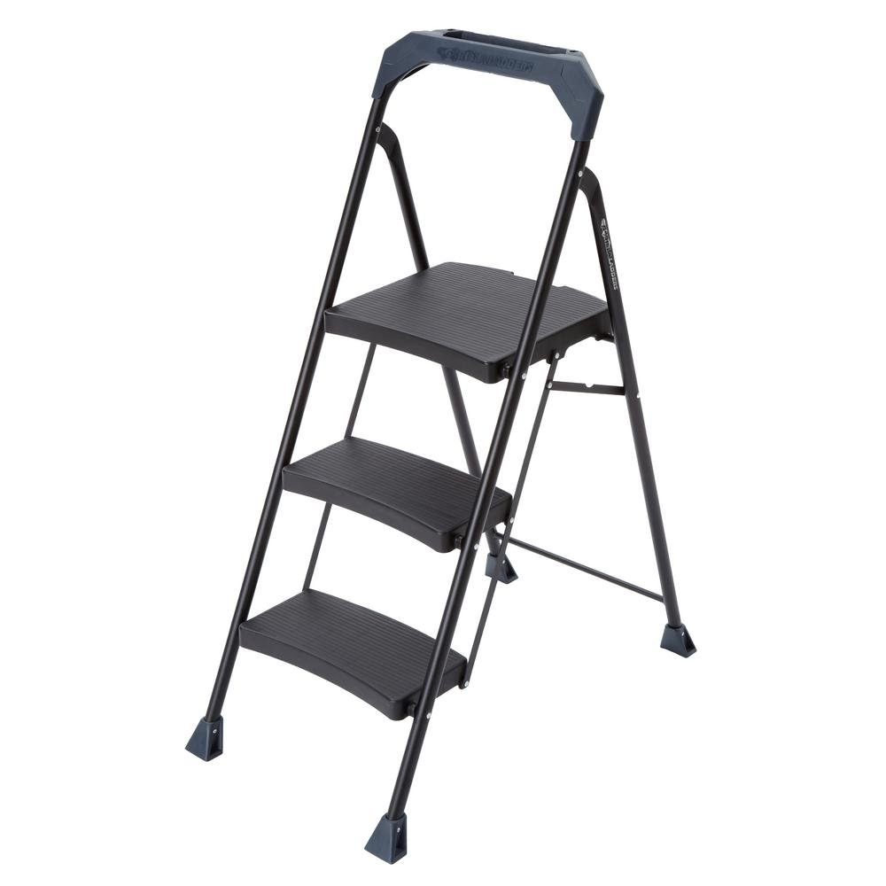 Gorilla Ladders 3-Step Steel Step Stool with 250 lb. Load Capacity Type I Duty Rating
