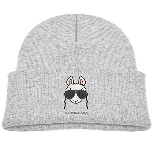 No Prob- Llama Kid Knitted Beanies Hat Boys