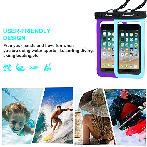 "Universal Waterproof Case,Waterproof Phone Pouch Compatible for iPhone 12 Pro 11 Pro Max XS Max XR X 8 7 Samsung Galaxy s10/s9 Google Pixel 2 HTC Up to 7.0"", IPX8 Cellphone Dry Bag -2 Pack"