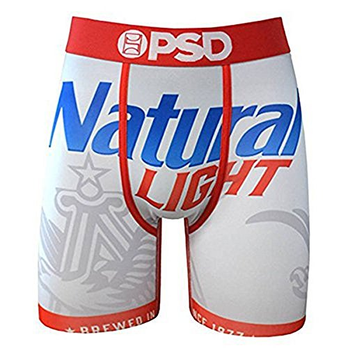 Natty Light - PSD Underwear Men's Natty Light, White, X-Large