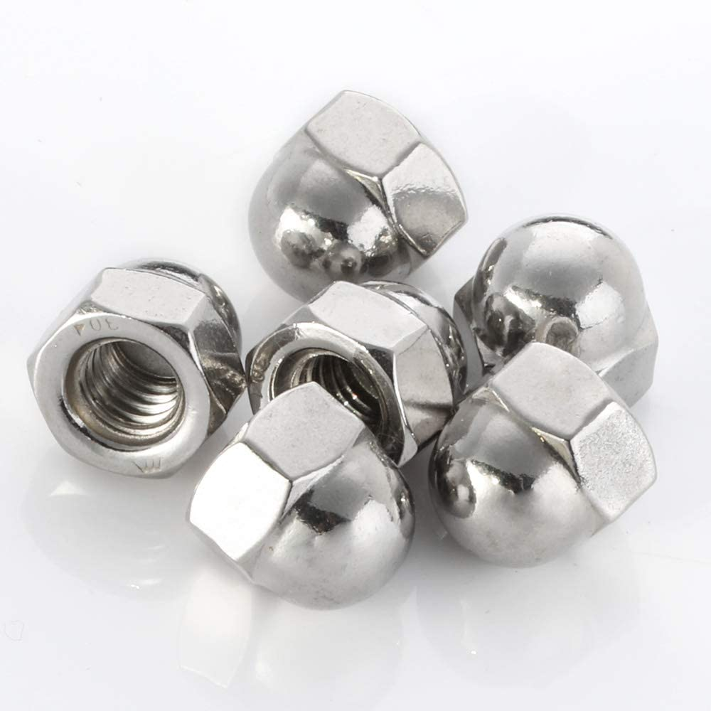1//2-13 Acorn Cap Nuts Stainless Steel 18-8 Quantity 10 Plain Finish