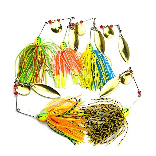 FREE FISHER Fishing Hard Spinner Lure Spinnerbait Pike Bass 17.5g/0.62oz 5pcs