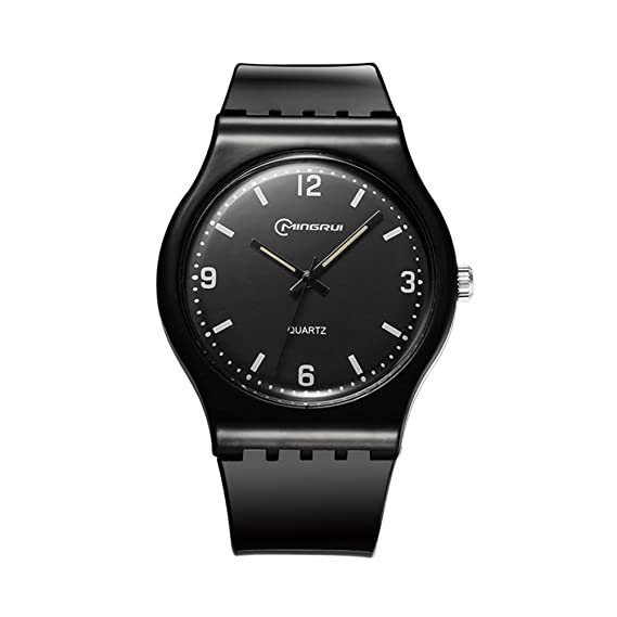 Señoras Reloj de cuarzo,30m impermeable Disco Reloj casual Cuarzo Junior Niña Parejas Reloj de pulsera-T: Amazon.es: Relojes