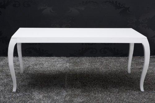 Barock Esstisch Hochglanz Weiß 200cm   Esszimmer Tisch   Barock Möbel Modern:  Amazon.de: Küche U0026 Haushalt