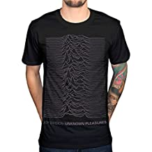 AWDIP Men's Official Joy Division Unknown Pleasures T-Shirt Post Punk Band Album Rock
