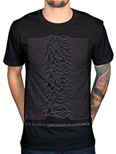 AWDIP Men's Official Joy Division Unknown Pleasures T-Shirt Post Punk Band Album - T-shirt Adult Joy