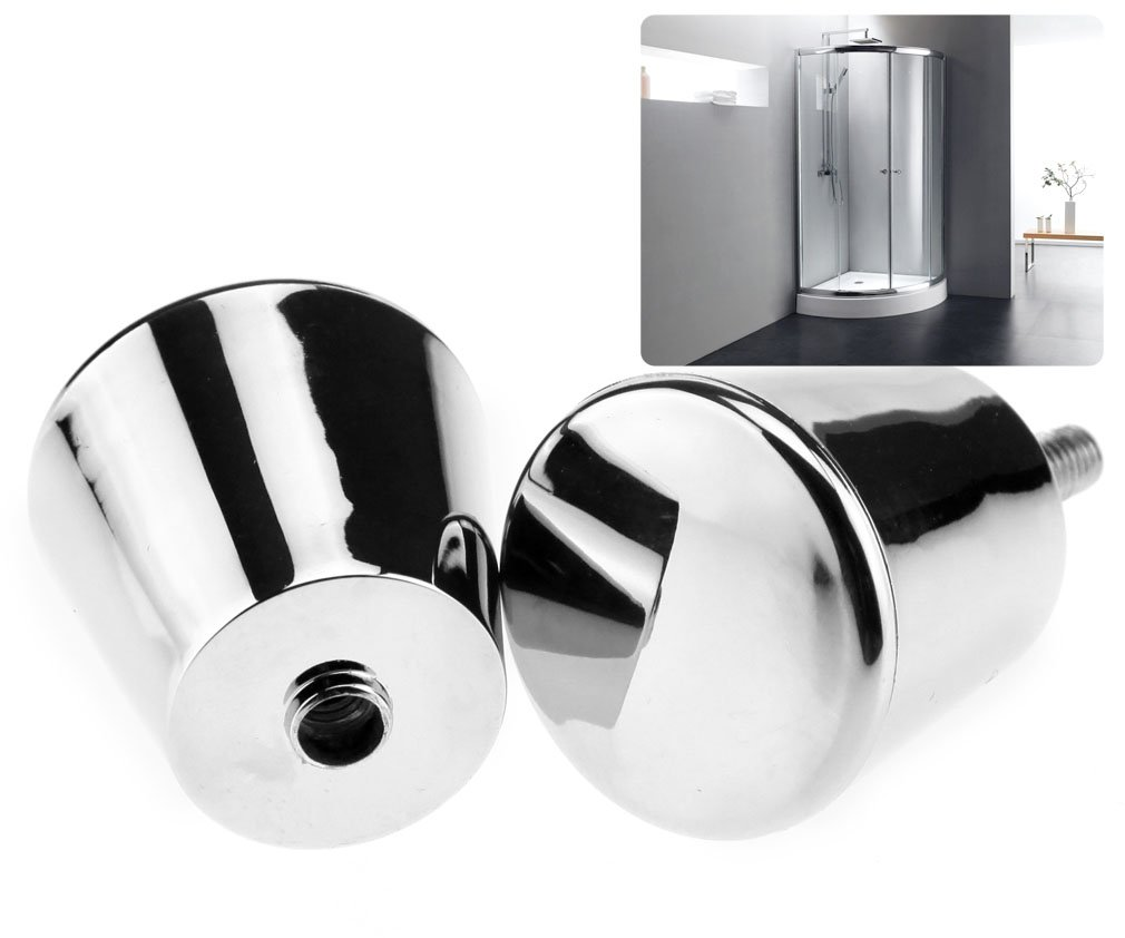 Elegant Design Shower Door Pair Chrome Plated Handle Knob Cone Shaped by Micro Trader Micro Traders