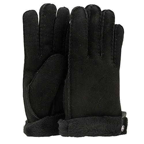 UGG Women's Tenney Glove with Leather Trim Black M SM