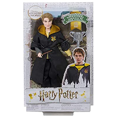 Harry Potter Cedric Diggory Collectible Triwizard Tournament Doll, 10.5-inch with Wand and Triwizard Cup Accessory: Toys & Games