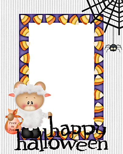LAMINATED 24x30 POSTER: Bear Sheep Corn Spider Web Halloween Frame Happy Background Vector Card Holiday Cartoon Celebration October Scary Greeting Decoration (Halloween Frame Vector)
