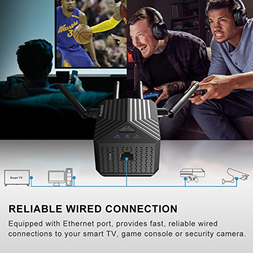 Coredy WiFi AC1200 Dual Band Mini WiFi Booster, with Ethernet Extending WiFi to Home