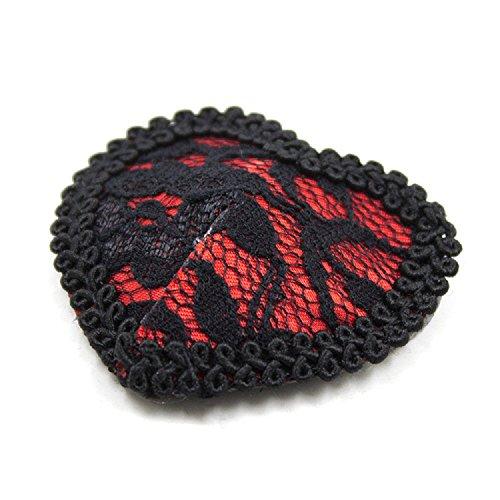 scintillante Riutilizzabile cuore Pizzo amp;rosso coppia Donna Copricapezzoli Domowin A Nero di di Cuore Nipple Una in Coppia silicone Cover forma Pasties 2 fXXYvaq