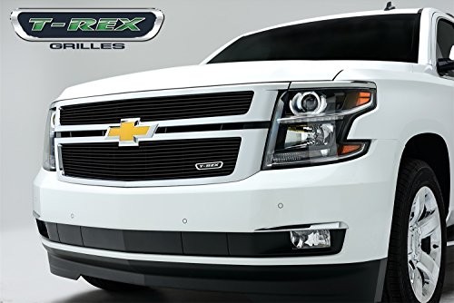 Two Piece Billet - T-Rex 21055B Billet All Black 2 Piece Overlay/Bolt On Grille for Chevrolet Suburban, Tahoe