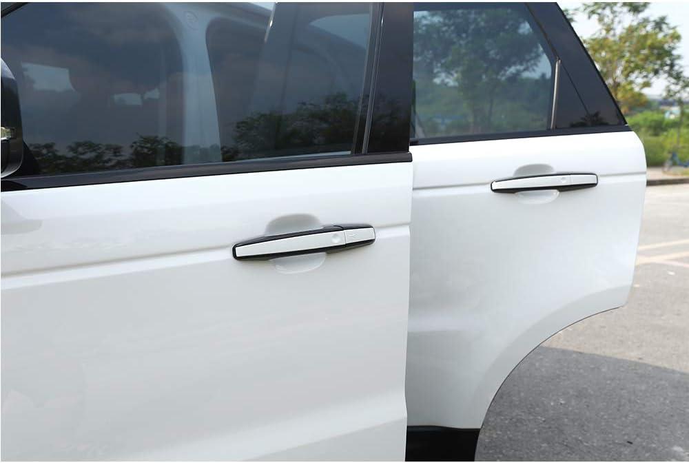 Chrome Replacement Car External Door Handle Cover Trim 8pcs For RR Evoque//RR Sport//RR Vogue//Discovery Sport//Discovery 5 LHD Accessories Black+Silver
