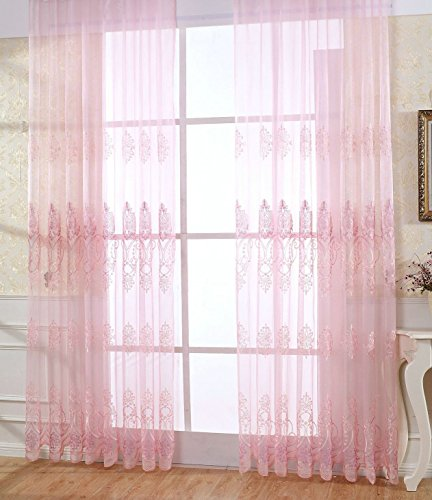 ASide BSide Victorian Style Royal Pattern Sheer Curtains Rod Pocket Top Breathable Window Decoration For Sitting Room Houseroom and Children Room (1 Panel, W 52 x L 84 inch, - Victorian Sage Panel