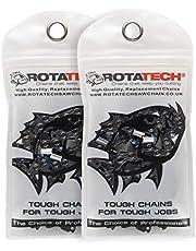 """2 Rotatech cadenas de motosierras 3/8"""" 1.3mm 52 enlaces 35cm full-chisel Compatible con Oregon Bosch dollmar Hitachi Echo Einhell Makita Husqvarna y otros"""