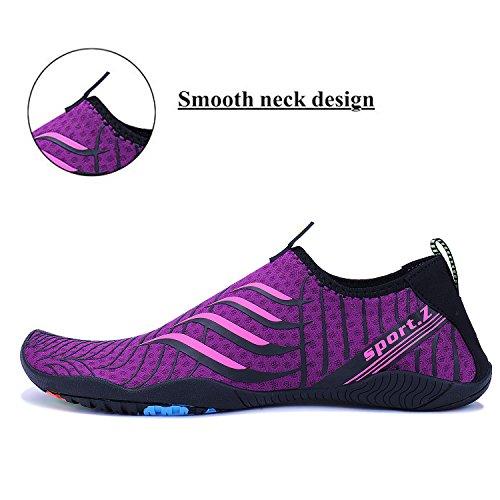 Atléticas Playa Natación Water Aqua Shoes Deporte Surf Rápido Beach Secado Púrpura Yoga Zapatillas para De 2 WYSBAOSHU Piscina q4S1xw7t7