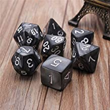 TR.OD Dragons Dungeons Dice Opaque Multi Sides Dice D4-D20 Black