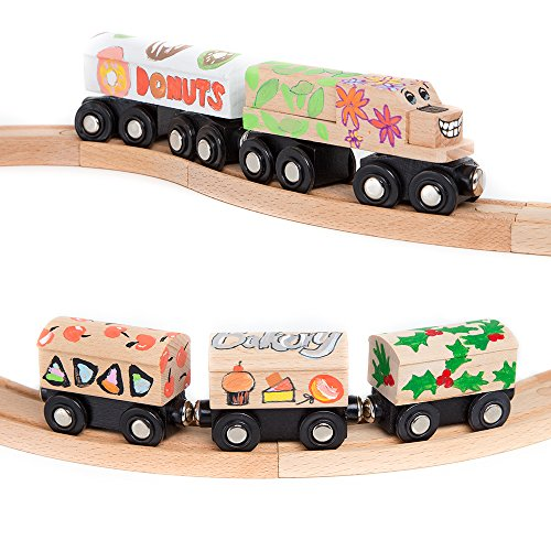 Cool Toy Train Cars : Orbrium toys unpainted train cars for wooden railway