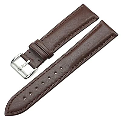 ZLIMSN Quick Release Genuine Calf Full-grain Leather 18mm 20mm 22mm 24mm Ladies Wrist Watch Band for Men Women Bracelet Strap Replacement + Spring Bar + Removal Tool