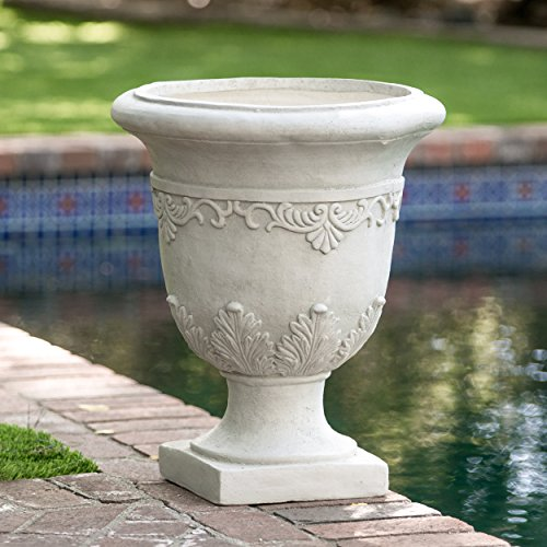 Stone Garden Urns (Great Deal Furniture Antonio Antique Moroccan 20-inch Urn Planter)