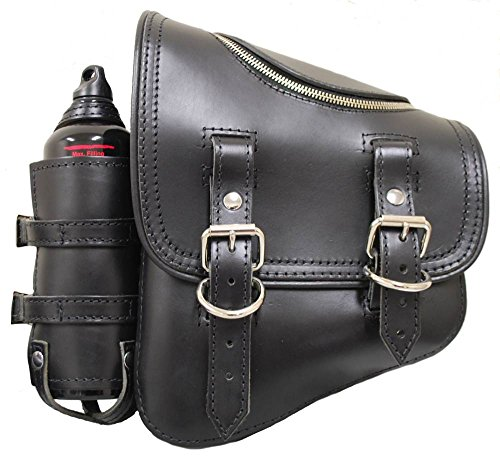 LaRosa Design Black Solo Side Zipper Bag with Fuel Bottle SSBBL03ZBH