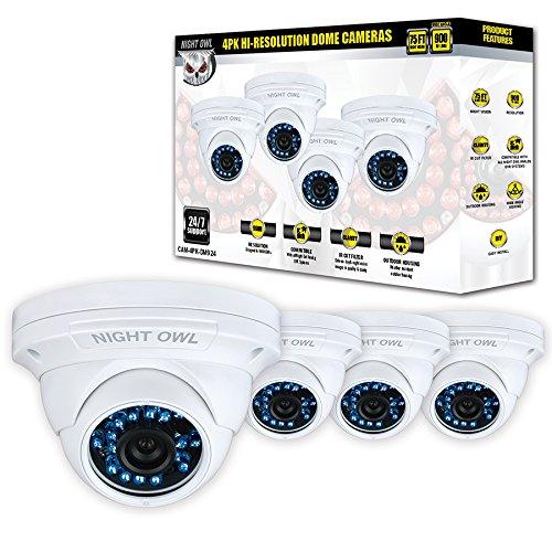 NIGHT OWL CAM-4PK-DM924 CCTV security camera Interior y exterior Almohadilla Blanco 1280 x 900Pixeles: Amazon.es: Electrónica
