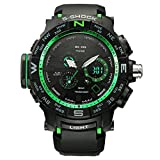 Military Digital Watch Swiss Quartz Stainless Steel Back with Resin Straps Multifunctional Wristwatch