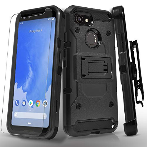 Google Pixel 3 Case, with [Tempered Glass Screen...