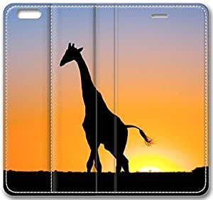 Animals Sunset Giraffe Botswana Case for iPhone 6 Plus 5.5 inch(Compatible with Verizon,AT&T,Sprint,T-mobile,Unlocked,Internatinal) in GUO Shop