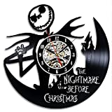 Nightmare Before Christmas Jack Love Halloween Holiday Story Disney Cartoon Characters Vinyl Record Design Wall Clock made of old used vinyl record in size of 12 inches. This thing is a unique present for everyone - just imagine your friends ...