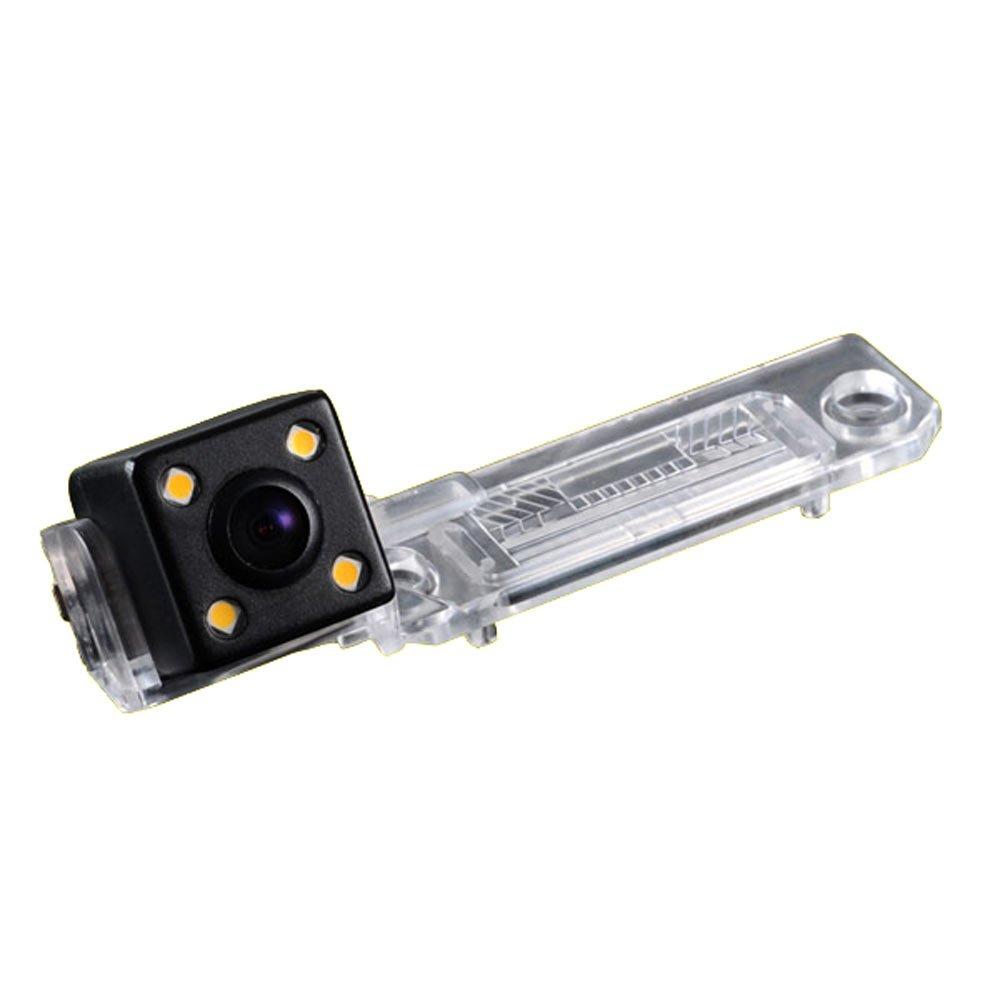 Kalakus 420TVL CMOS Caméra de Recul Voiture en Couleur Kit Caméra vue arrière de voiture Imperméable IP67 avec large Vision Nocturne pour VW Caddy Passat B5 B6 Transporter T5 Touran Jetta KA8013-FR