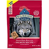 Blue Buffalo Wilderness Trail Treats Salmon Biscuits Grain-Free Dog Treats, 24-Oz