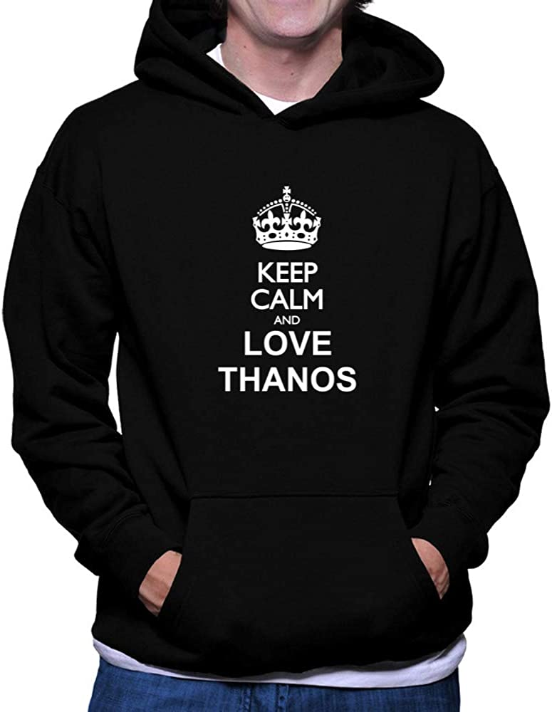 Teeburon Keep Calm and Love Thanos Hoodie