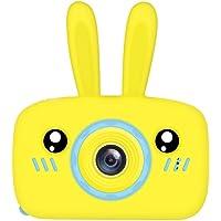 Niome 2 Inch Kids Camera Cute Rabbit Bear Child Portable Mini Full HD Digital Video Camera Smart Digital Camera for Child Birthday Gifts Yellow Rabbit