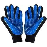 kelzsm [Upgrade Version] Pet Grooming Glove - Deshedding Brush Gloves for Dogs Cats - Pet Hair Remover Gloves for Long & Short Fur - Enhanced Five Finger Design - Pet Glove Hair Removal