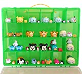 Tsum Tsum Mini Toys Carrying Case - Stores Dozens Of Tsum Tsum Mini Figure And Toys - Durable Toy Storage Organizers By Life Made Better - Green